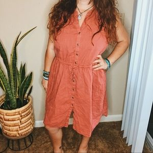 🔥 SALE Old navy 1x plus size button up tank dress